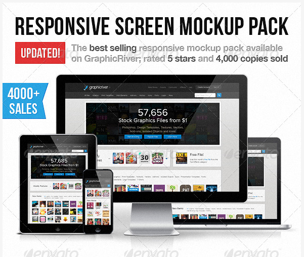 Reponsive Screen Mockup Pack