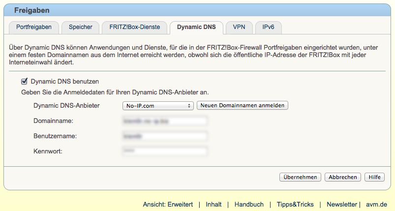 Fritzbox-DynDNS