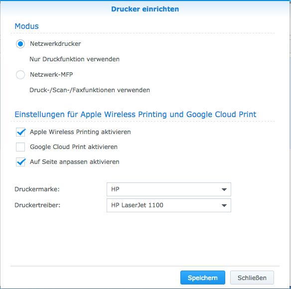 DSM_HP1102w-Konfiguration